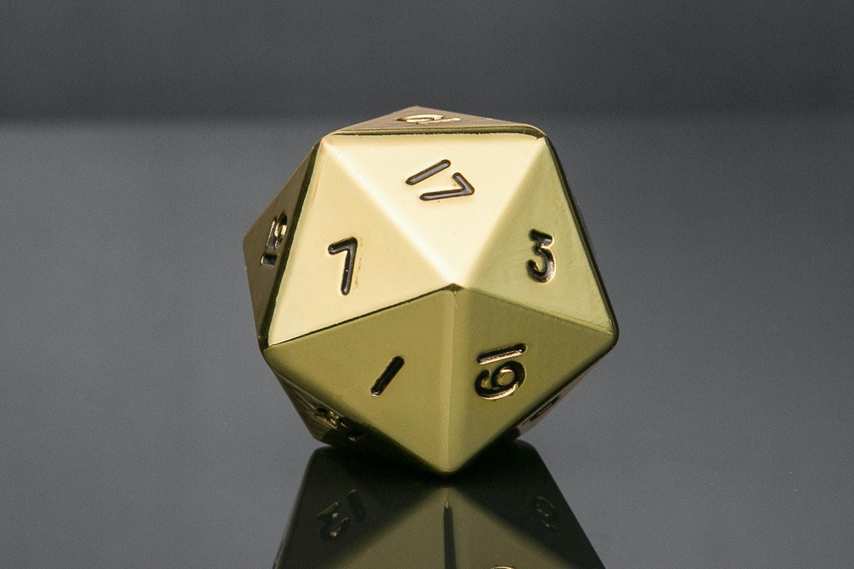 Gold Mega Metal D20