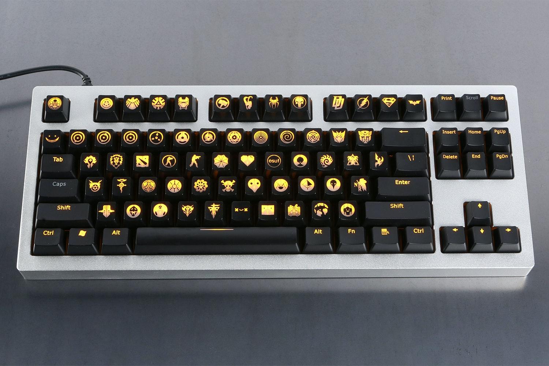ABS Shine Through Emblem Keycaps