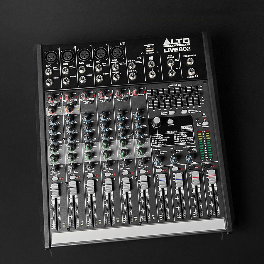Alto Professional Live 802 8-channel, 2 bus Mixer
