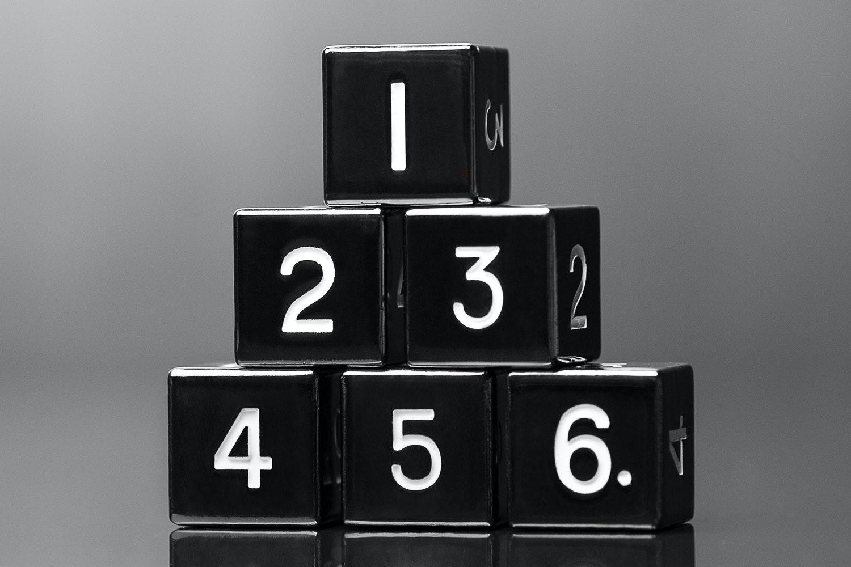 Metallic Black D6 Set