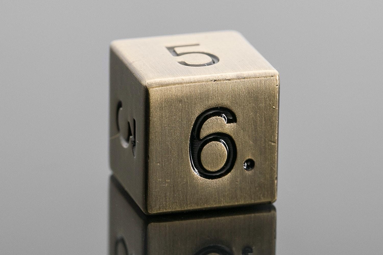 Metallic Antique Gold D6 Set