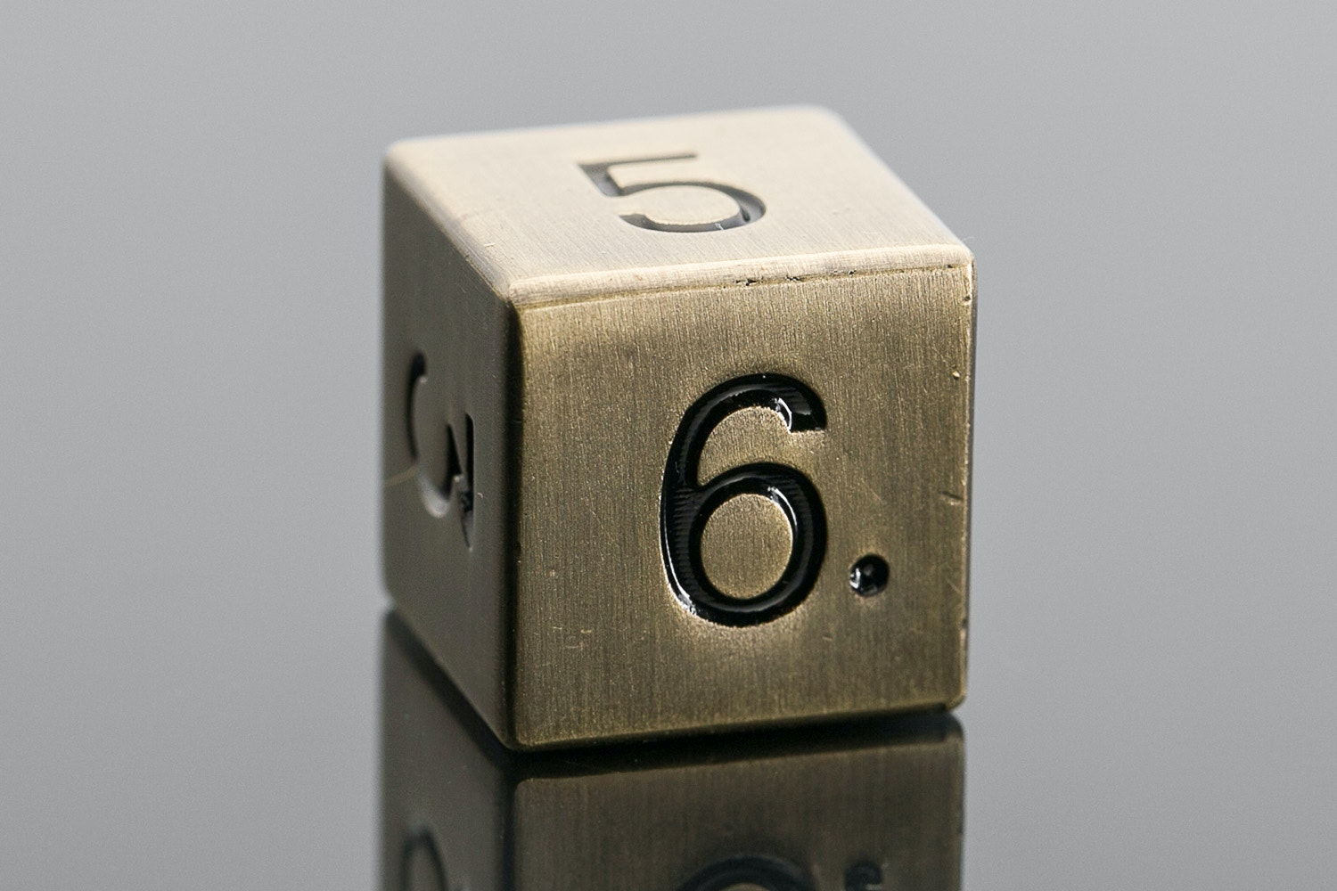 Metallic Antique Gold D6 Set