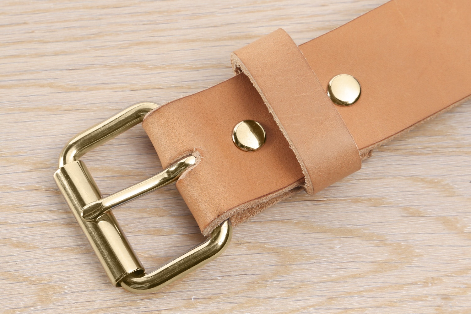 Natural with Brass Buckle