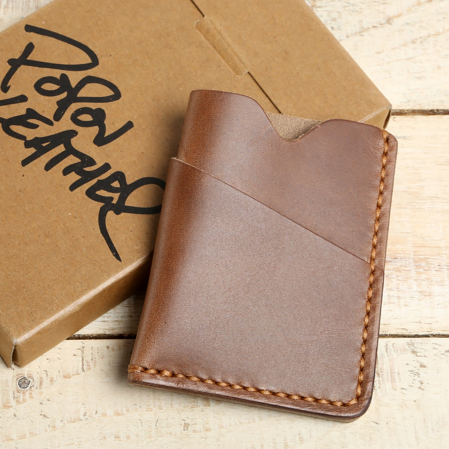 Popov Leather Driftwood Chromexcel Card Holder