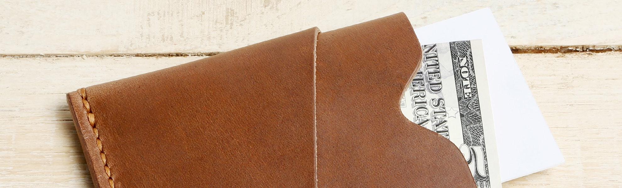 Popov Leather Driftwood Chromexcel Card Holder