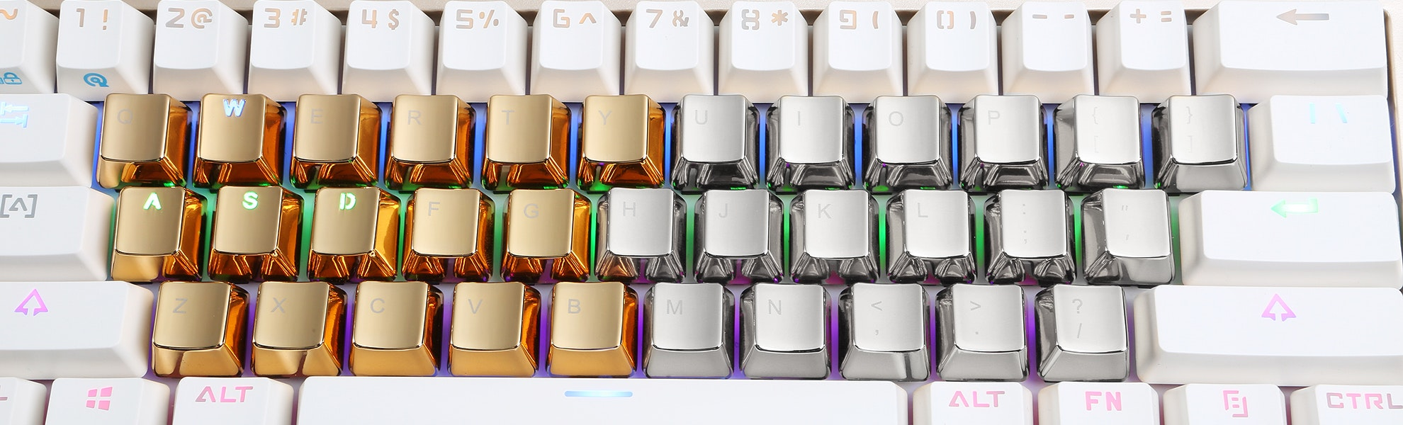 Zinc Gold or Silver Keycaps