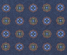 B1 - large scale motif on navy