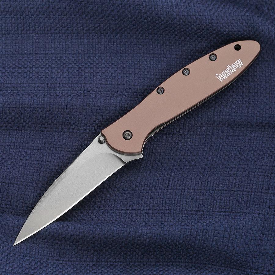 Kershaw Leek Stonewash ELMAX Blade