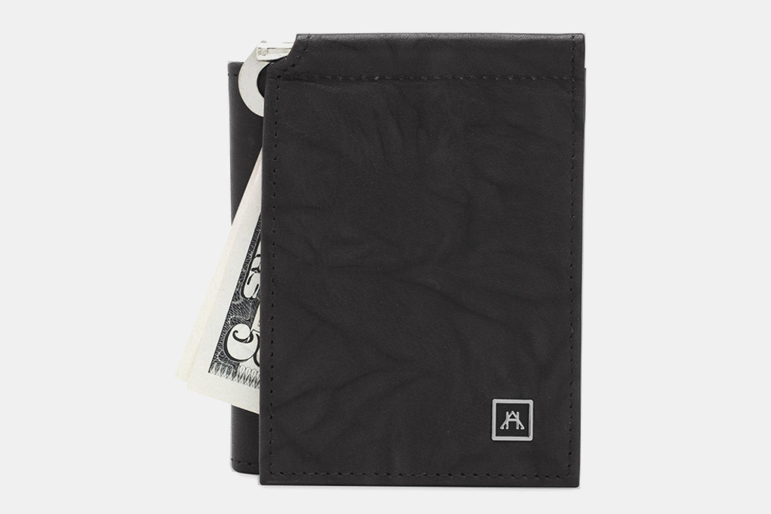 Money Clip Wallet - Buffalo Calf Crunch - Black (+$4)