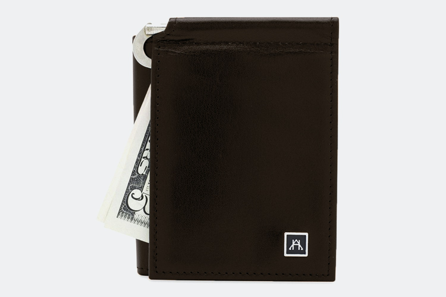 Money Clip Wallet - Glazed Buffalo Calf - Espresso  (+$4)