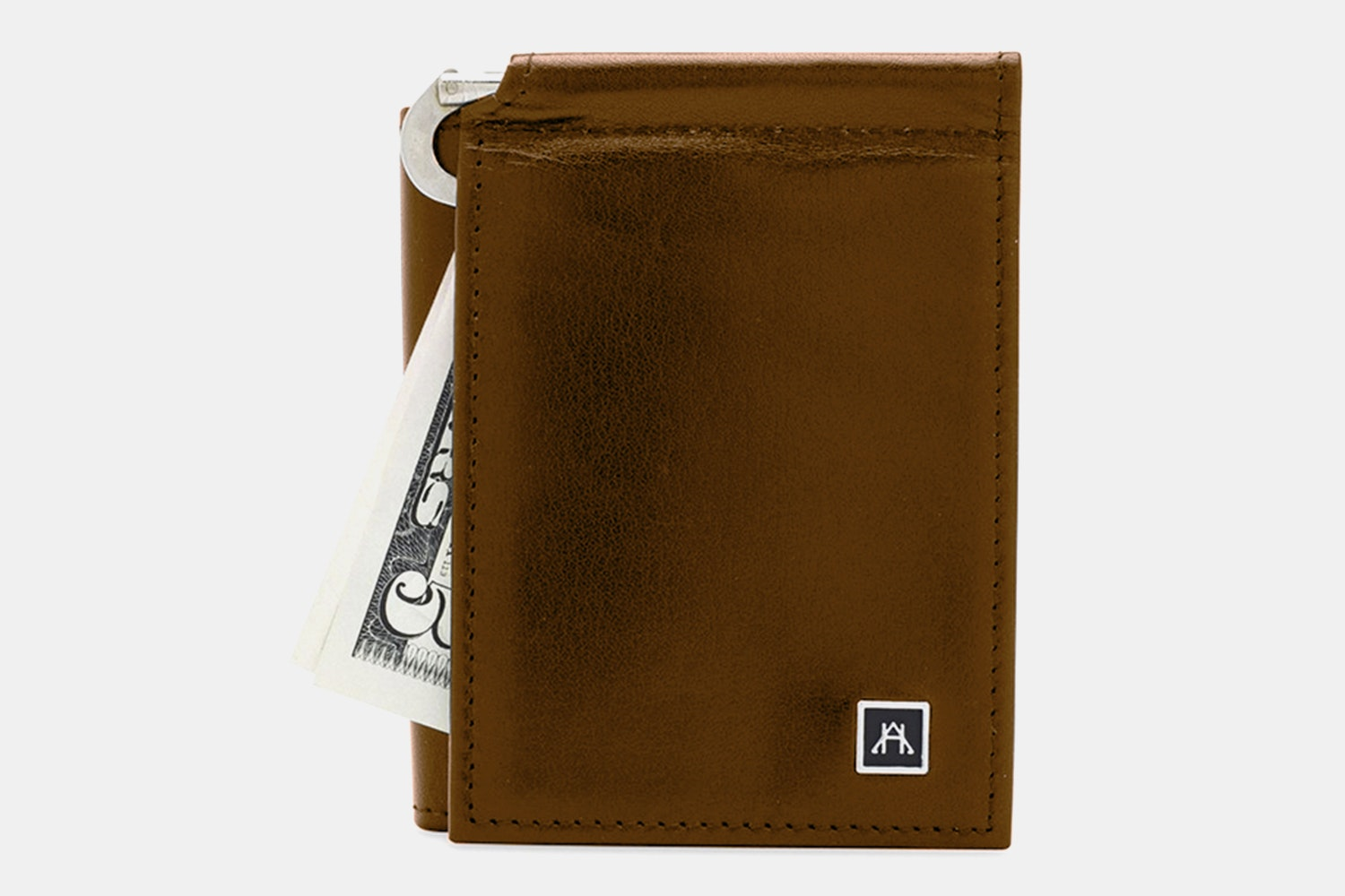 Money Clip Wallet - Glazed Buffalo Calf - Tan (+$4)