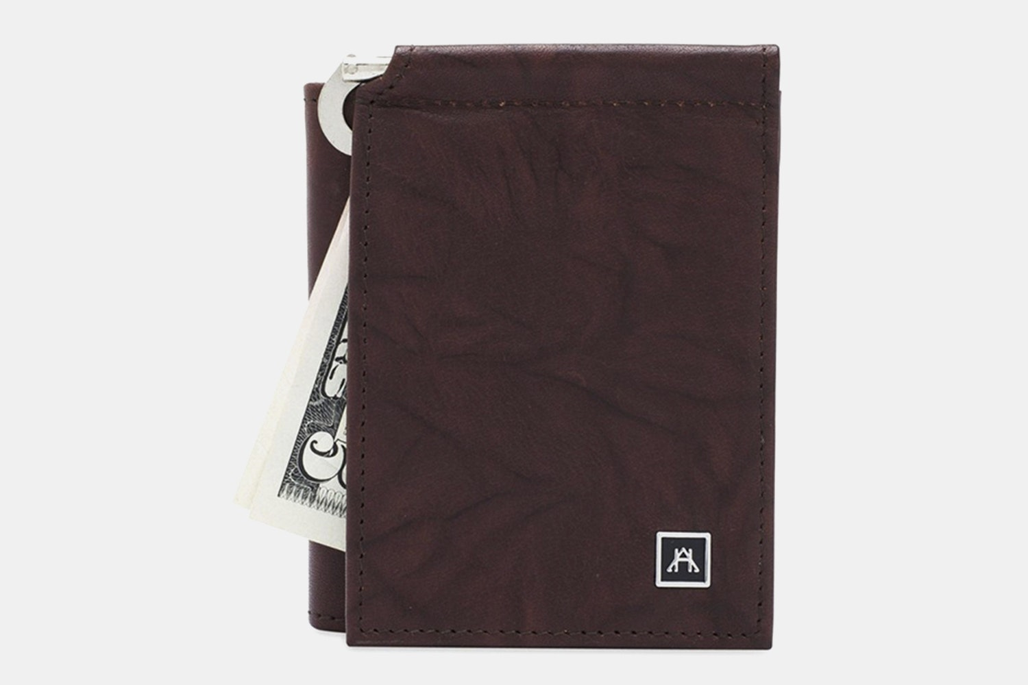 Money Clip Wallet - Buffalo Calf Crunch - Brown (+$4)