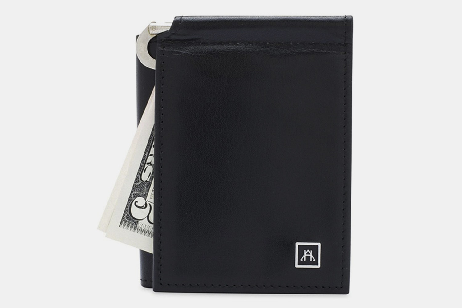 Money Clip Wallet - Glazed Buffalo Calf - Black (+$4)