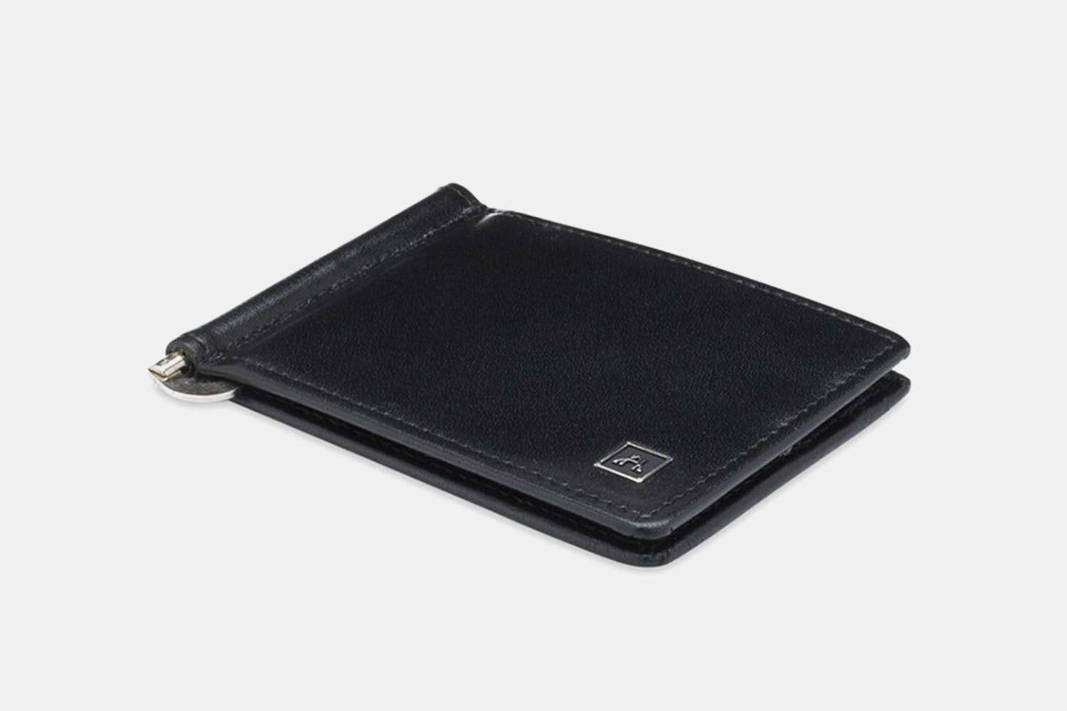 Money Clip - Glazed Buffalo Calf - Black