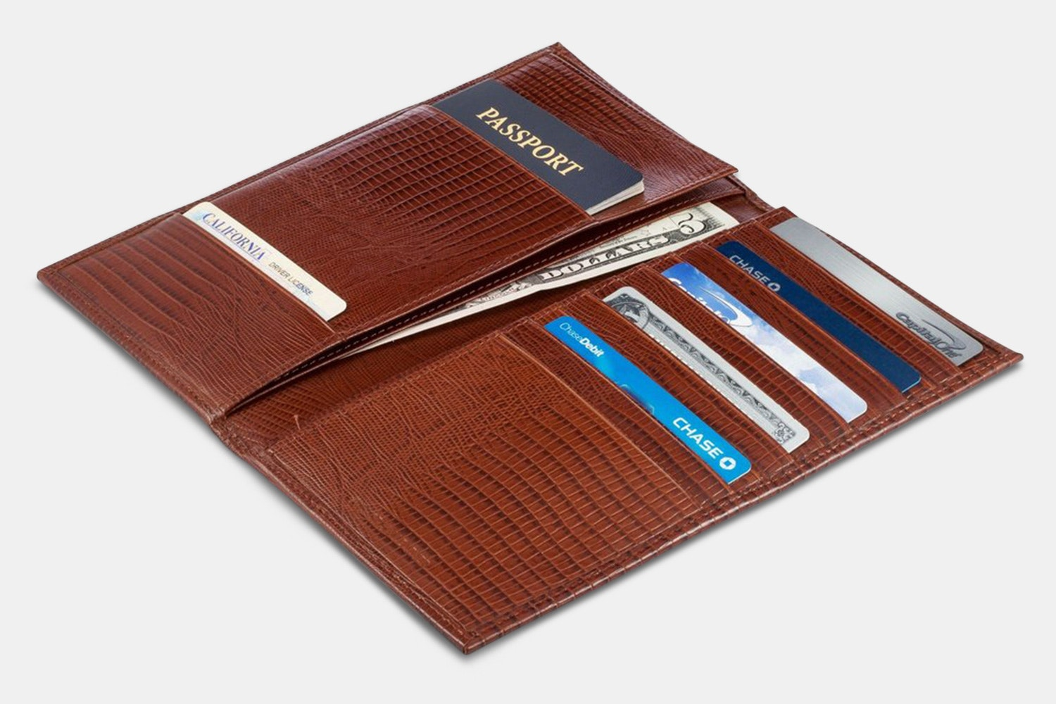 A&H Leather Passport Wallet