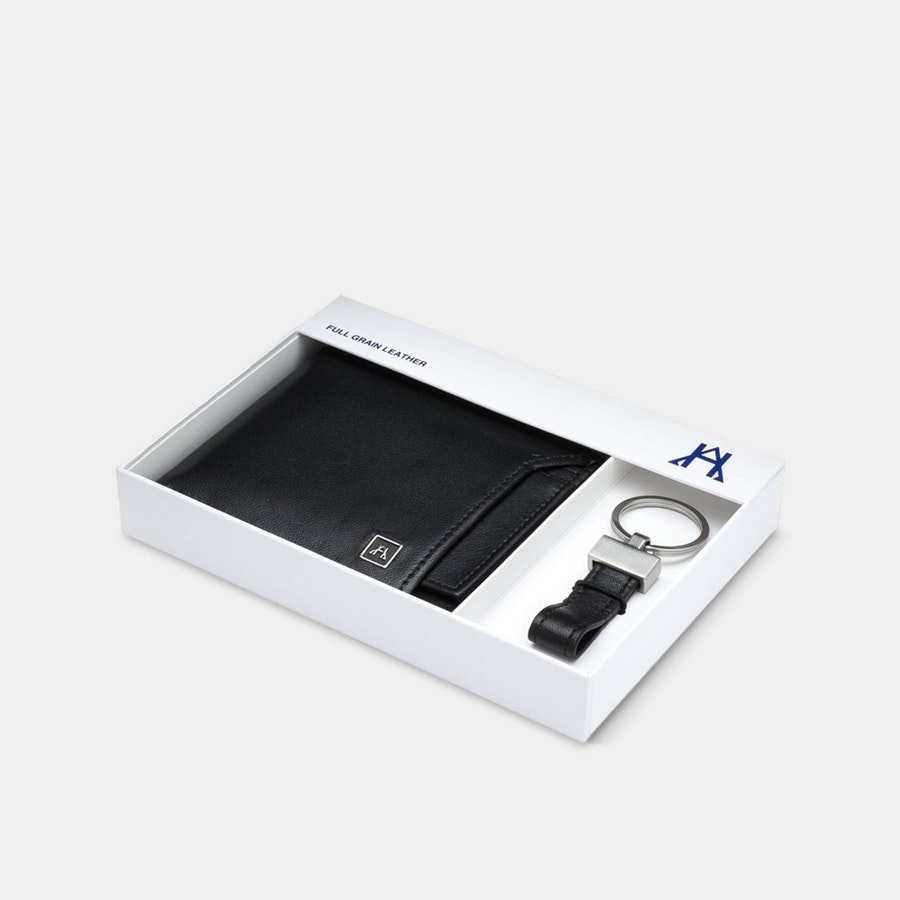 A&H Leather Removable ID Wallet Gift Set