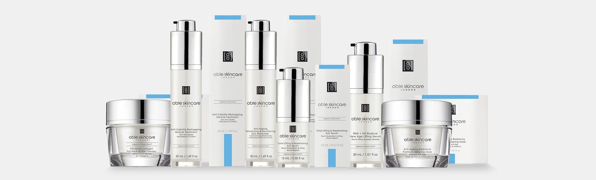 Able Skincare Cosmetic Drone Collection