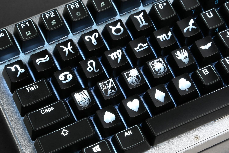 ABS Shine-Thru Emblem Keycaps
