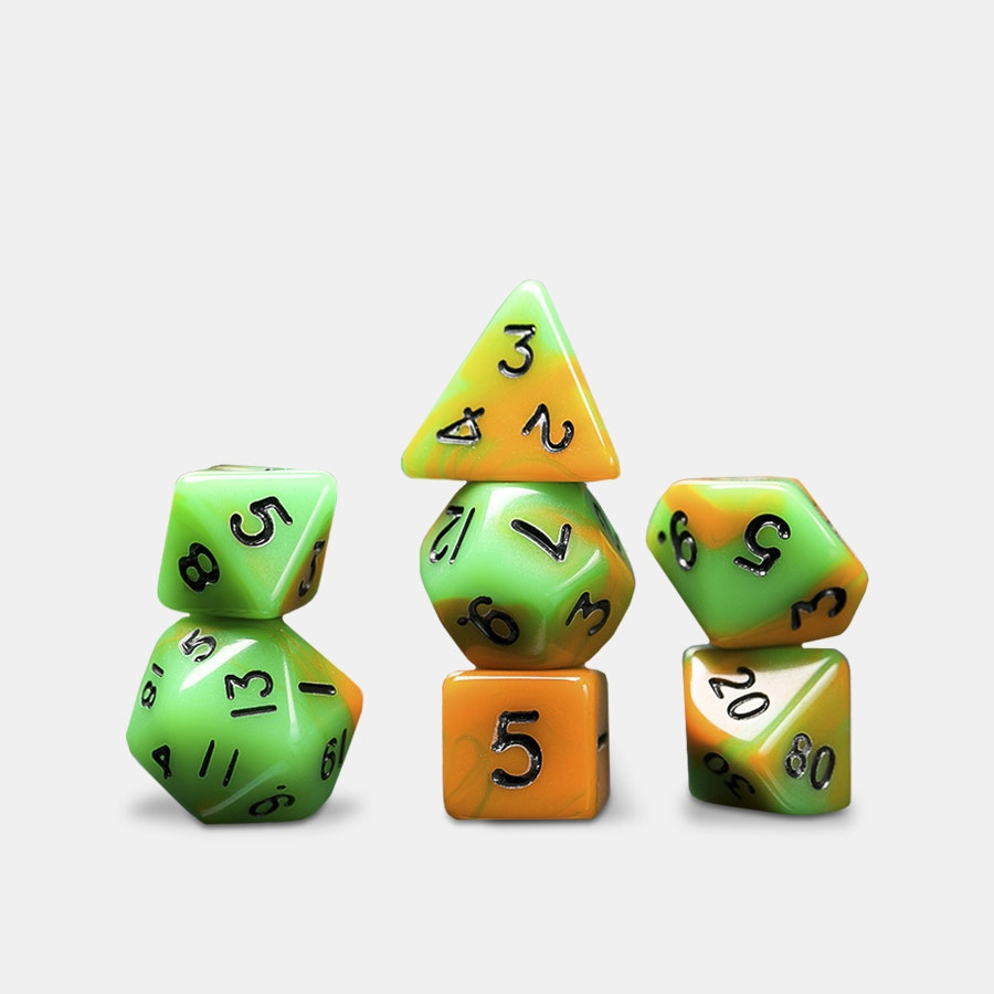 Acrylic Mini Polyhedral Dice Sets (4-Pack)