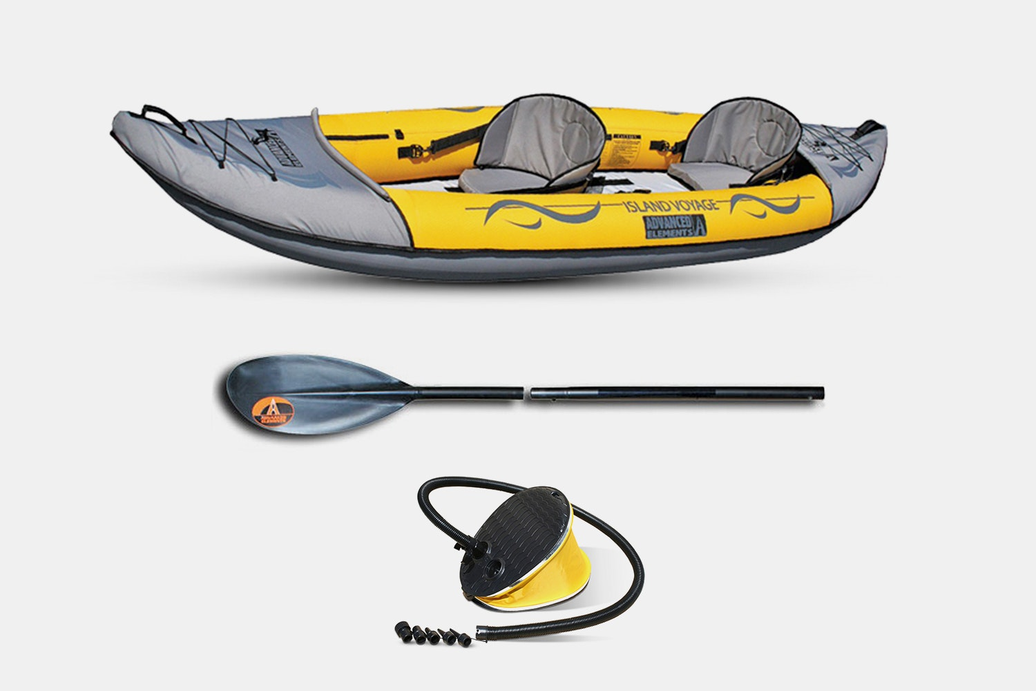 Island Voyage 2 Kayak + Foot Pump + 1 Paddle (+$70)