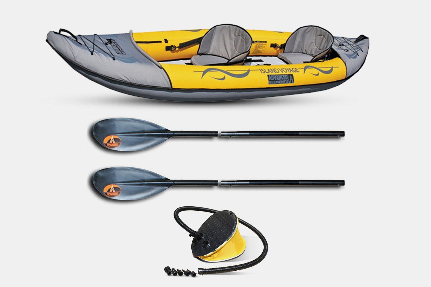 Island Voyage 2 Kayak + Foot Pump + 2 Paddle (+$120)