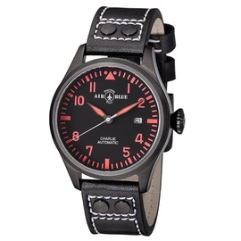 Charlie Automatic PVD Black/Red