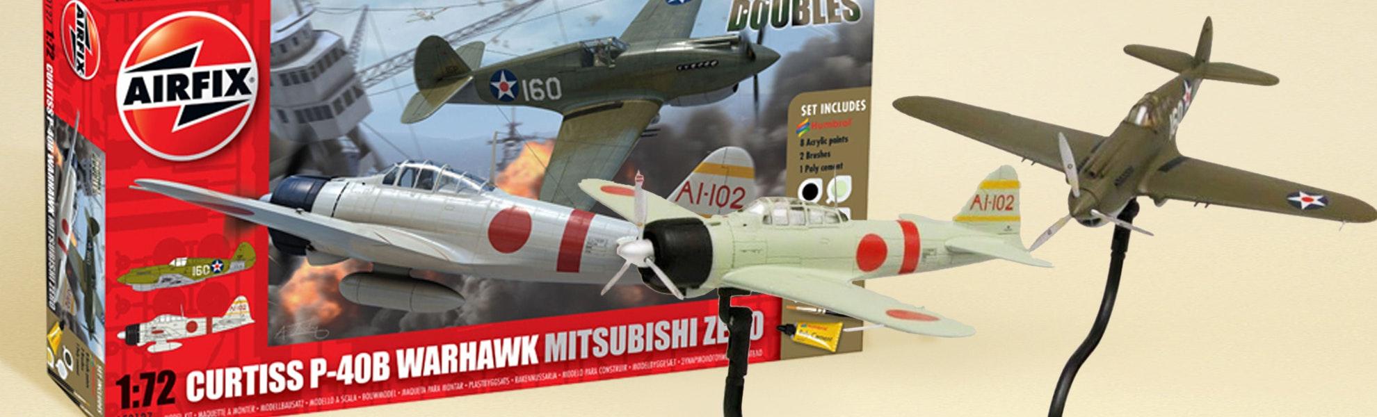 Airfix Dogfighting Doubles: P-40 Warhawk & Zero