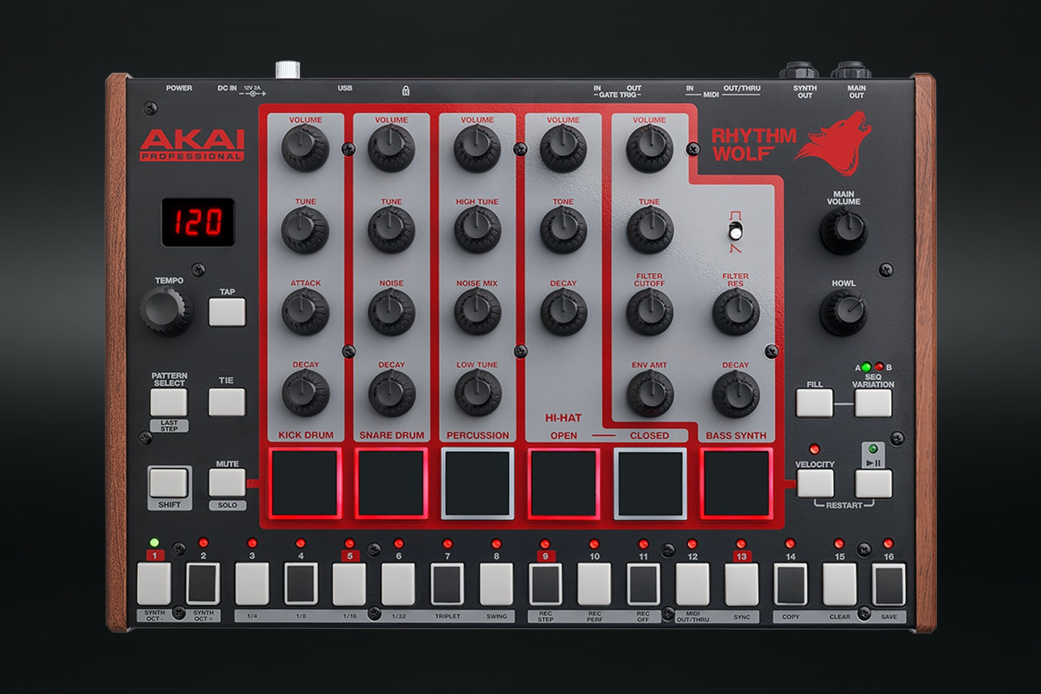 Akai Rhythm Wolf Analog Drum Machine & Synthesizer