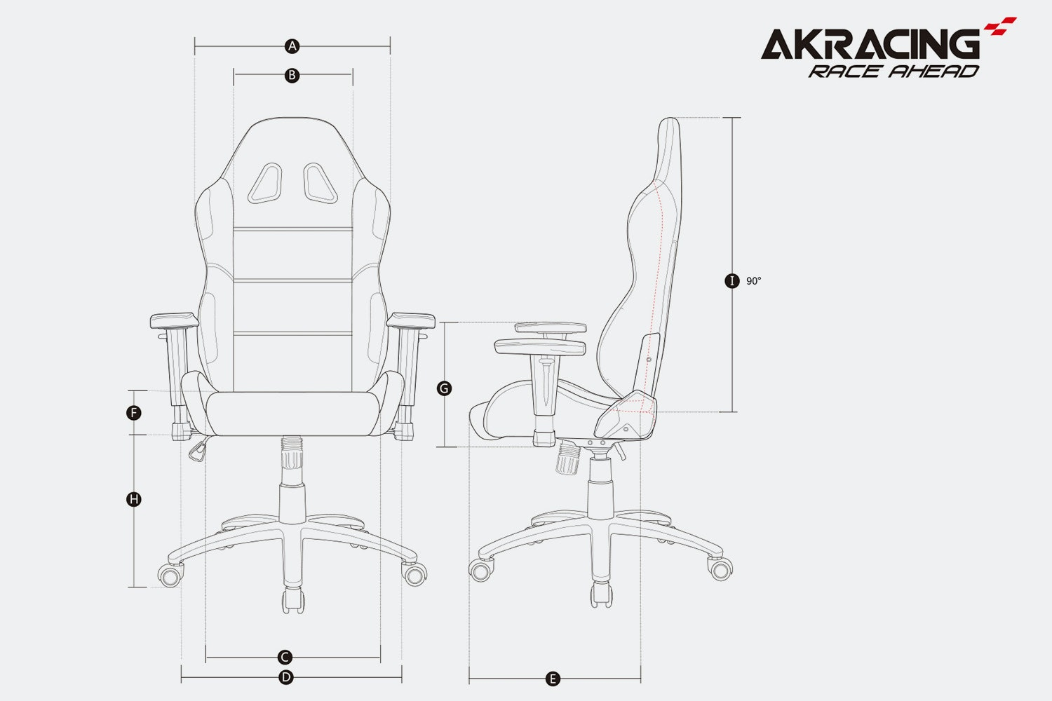 AKRacing Core Series EX/EX Wide Gaming Chairs