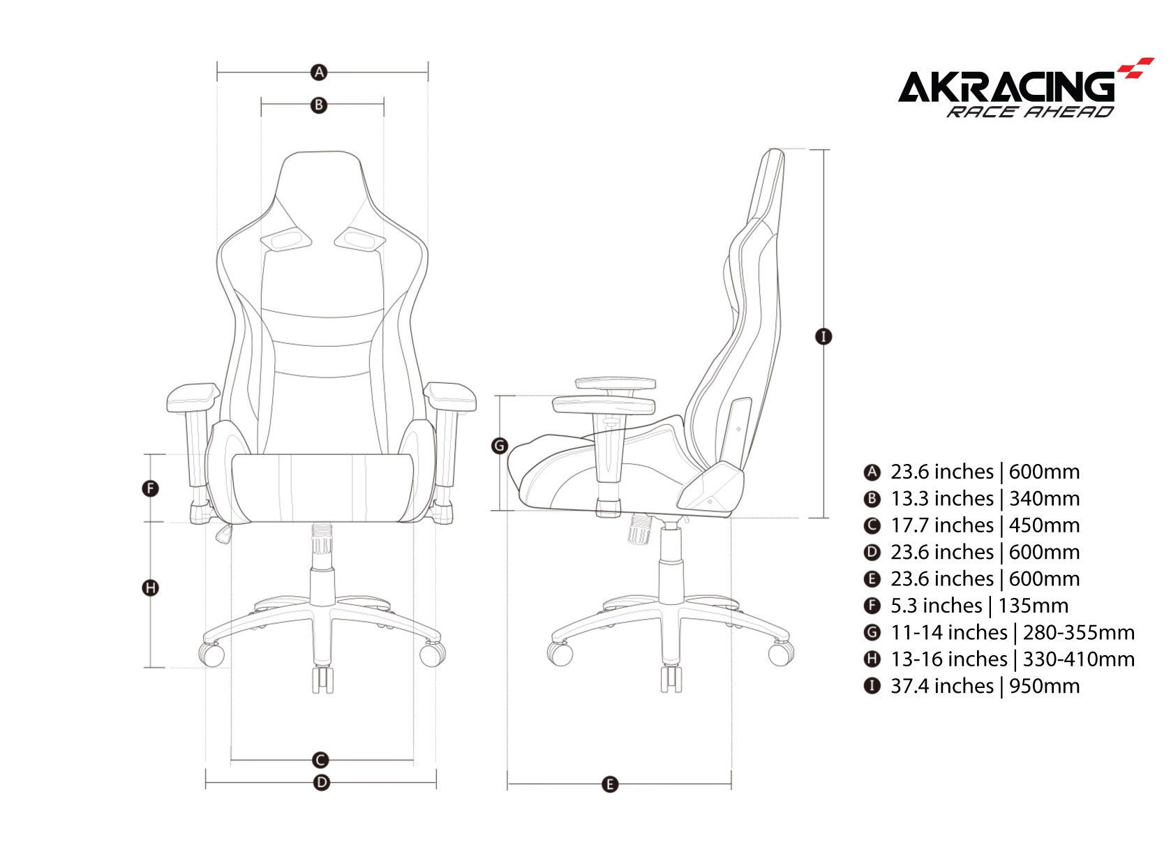 AKRacing ProX Gaming Chairs - 2017 - Last Chance
