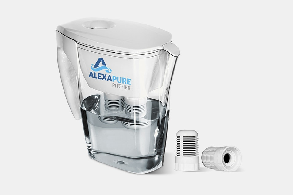 alexapure pitcher water filtration system   price & reviews   massdrop