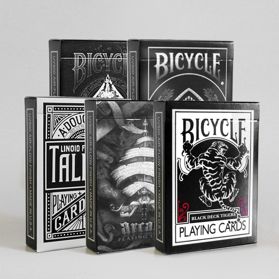 Bicycle All-Black Playing Card Bundle (5-pack)