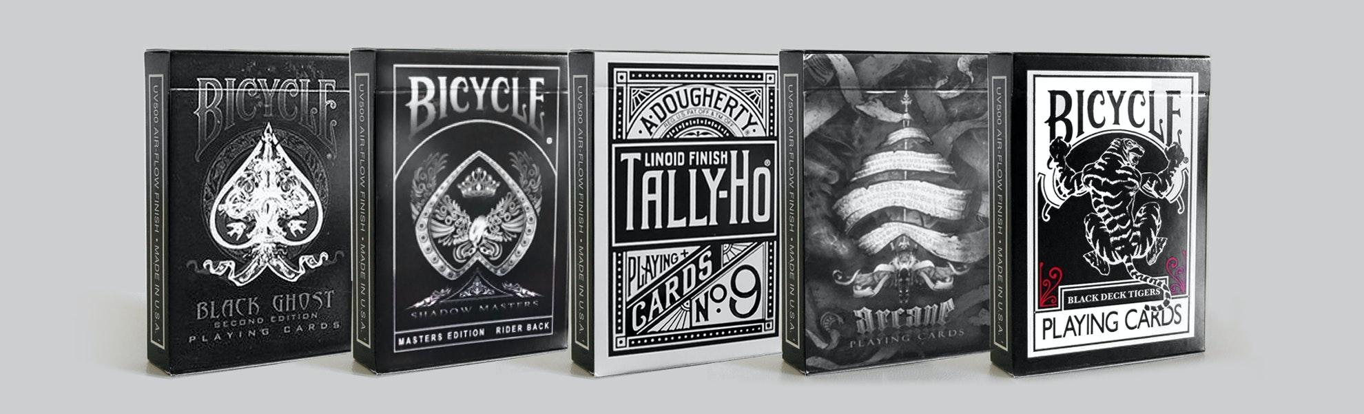 Bicycle All-Black Playing Card Bundle (5-pack)
