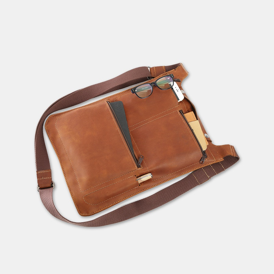 Allegory Goods Leather Flight Satchel