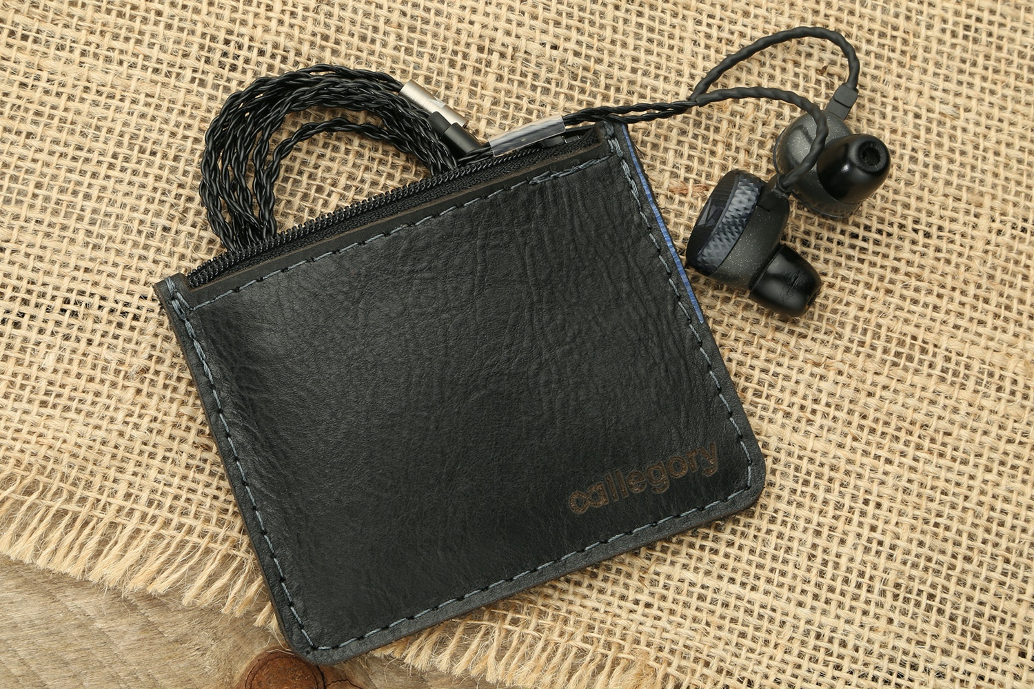 Allegory Goods Leather Zipper Coin Pouch