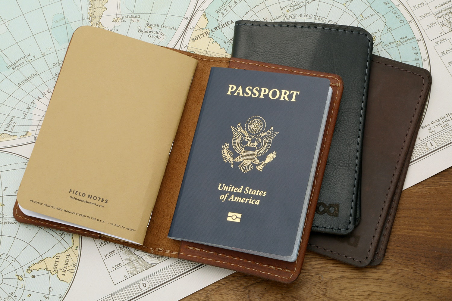 Allegory Goods Leather Passport Wallet
