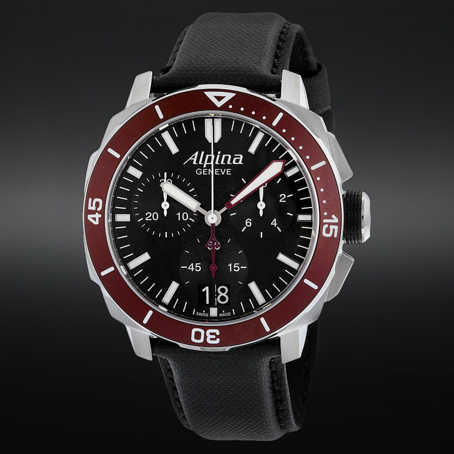 Alpina Seastrong Diver 300 Quartz Chronograph Watch