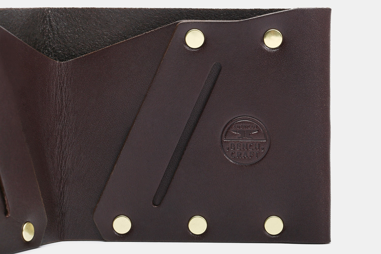 American Bench Craft Hammer Riveted Billfold Wallet