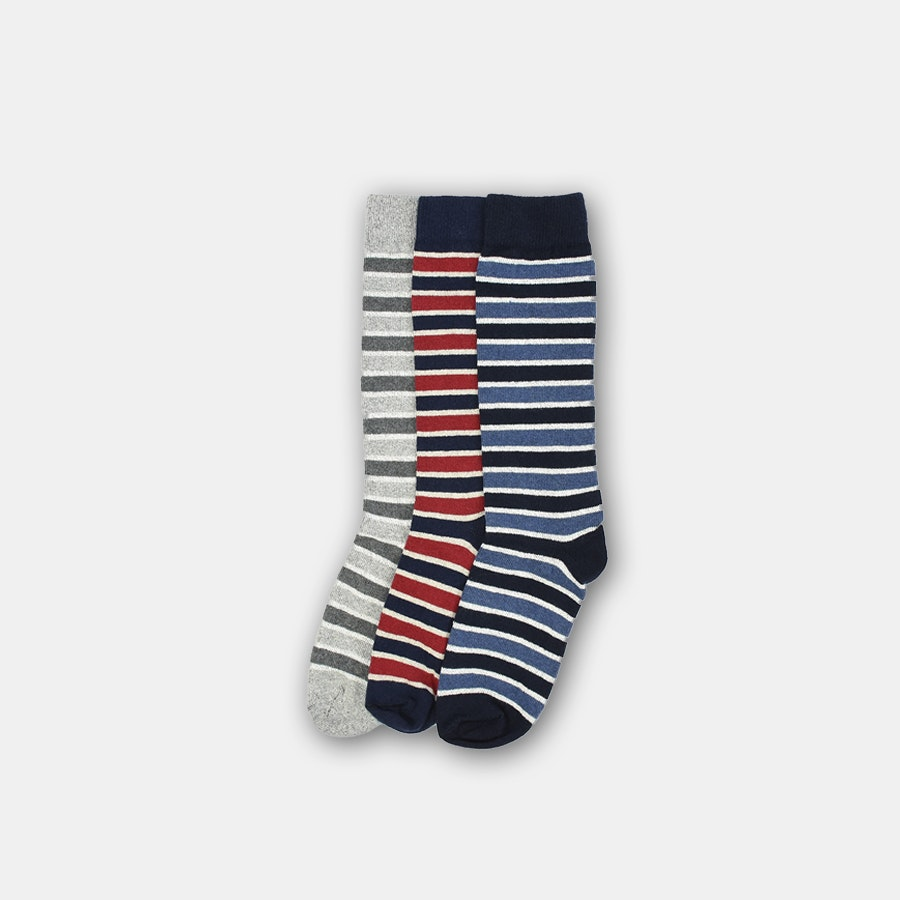 American Trench Triple-Stripe Socks (3-Pack)