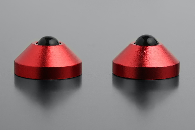 Anodized CNC Aluminum Cone Feet