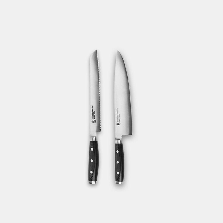 Apogee Dragon 10-Inch Chef's & 9-Inch Bread Knife