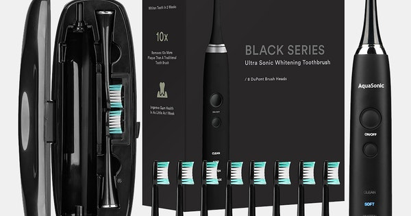 Aquasonic Black Series Electric Toothbrush