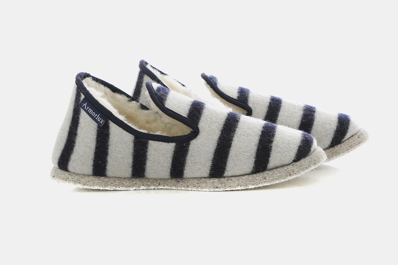 Breton Stripe Slippers - Nature/Navire