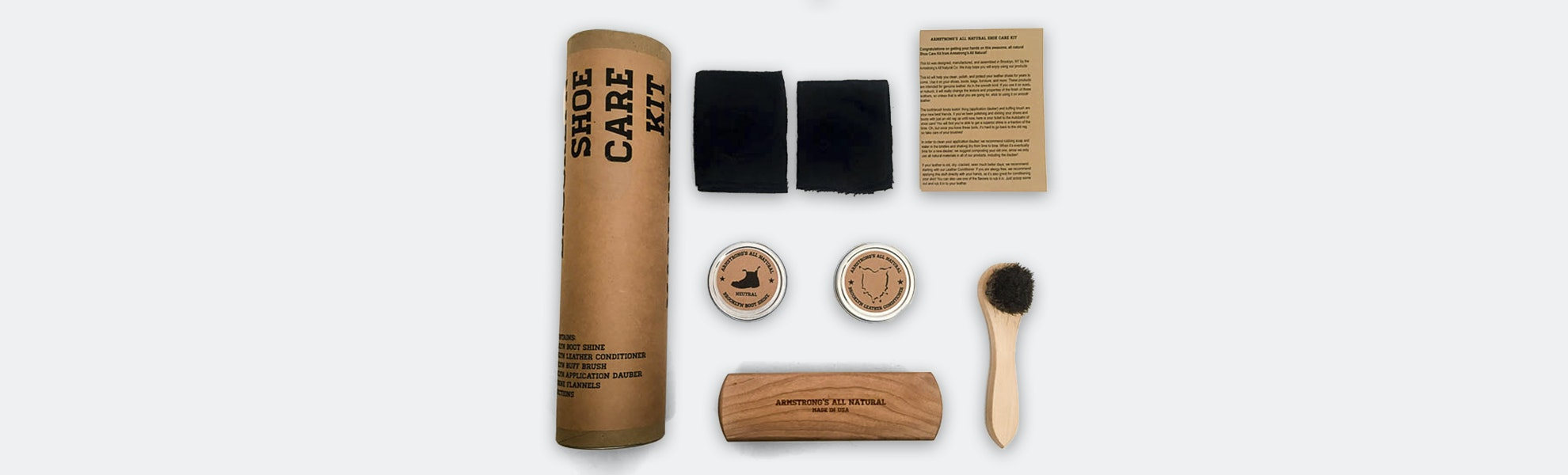Armstrong's All Natural Leather/Shoe Care Kit
