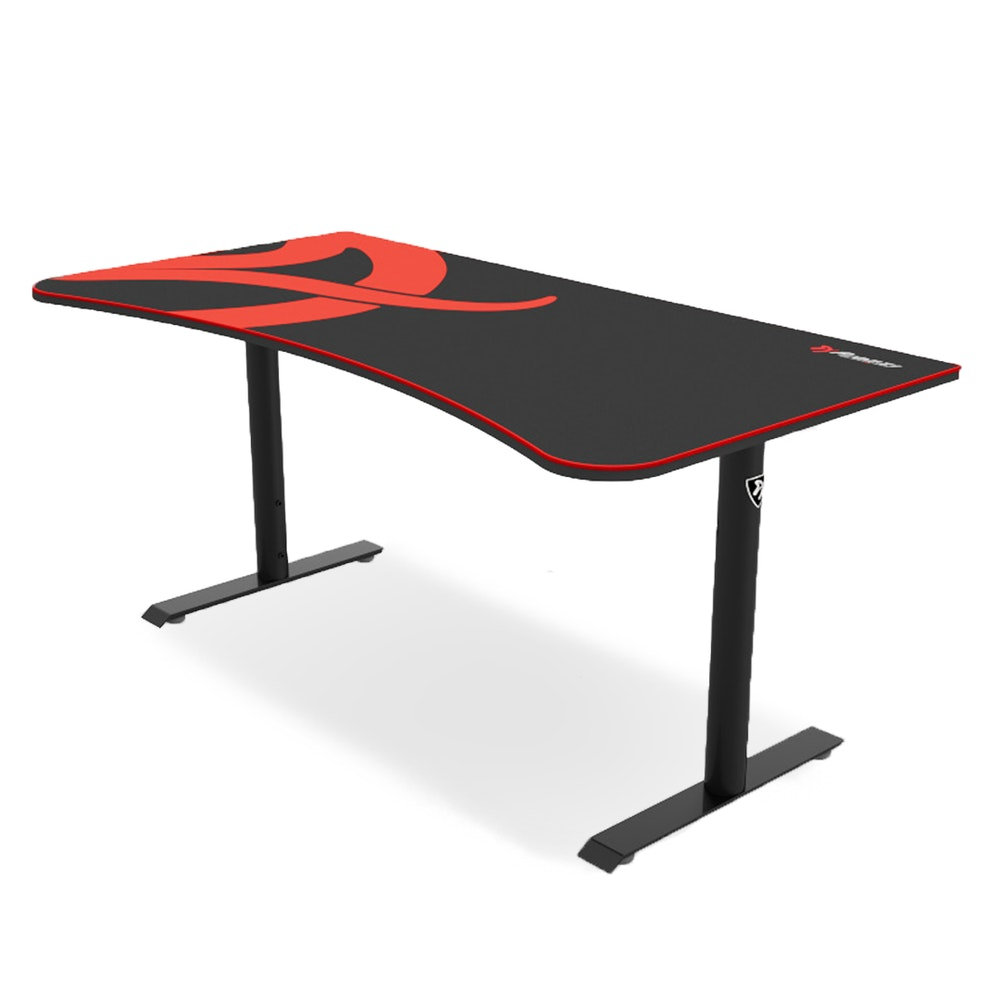 Arozzi Arena Gaming Desk Versatile, Sleek & Fit for Any Space -- New from Swedish company Arozzi, the Arena desk maximizes comfort and versatility to take your gaming to a whole new level. This time around we got our hands on the sleek all-black version, which is only available on Massdrop. The height is adjustable from 27.9 to 31.9 inches, and the huge field of play--63 inches wide and 32.3 inches deep--offers plenty of room for your mouse, keyboard, up to three large monitors, and other devices. The 14-square-foot surface is entirely covered by a custom mouse pad, which measures a plush 5 millimeters thick with stitched edges. The microfiber cloth top is water-resistant and machine-washable, and the non-slip underside ensures it stays put during lightning-fast movements.