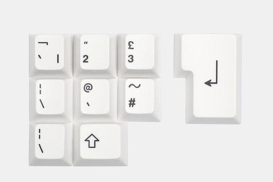 Artifact Bloom Series Keycap Set: Black on White