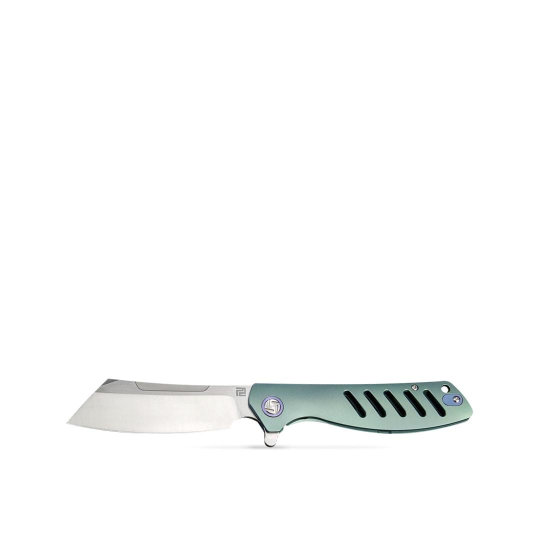 Artisan Titanium Tomahawk Frame Lock Knife