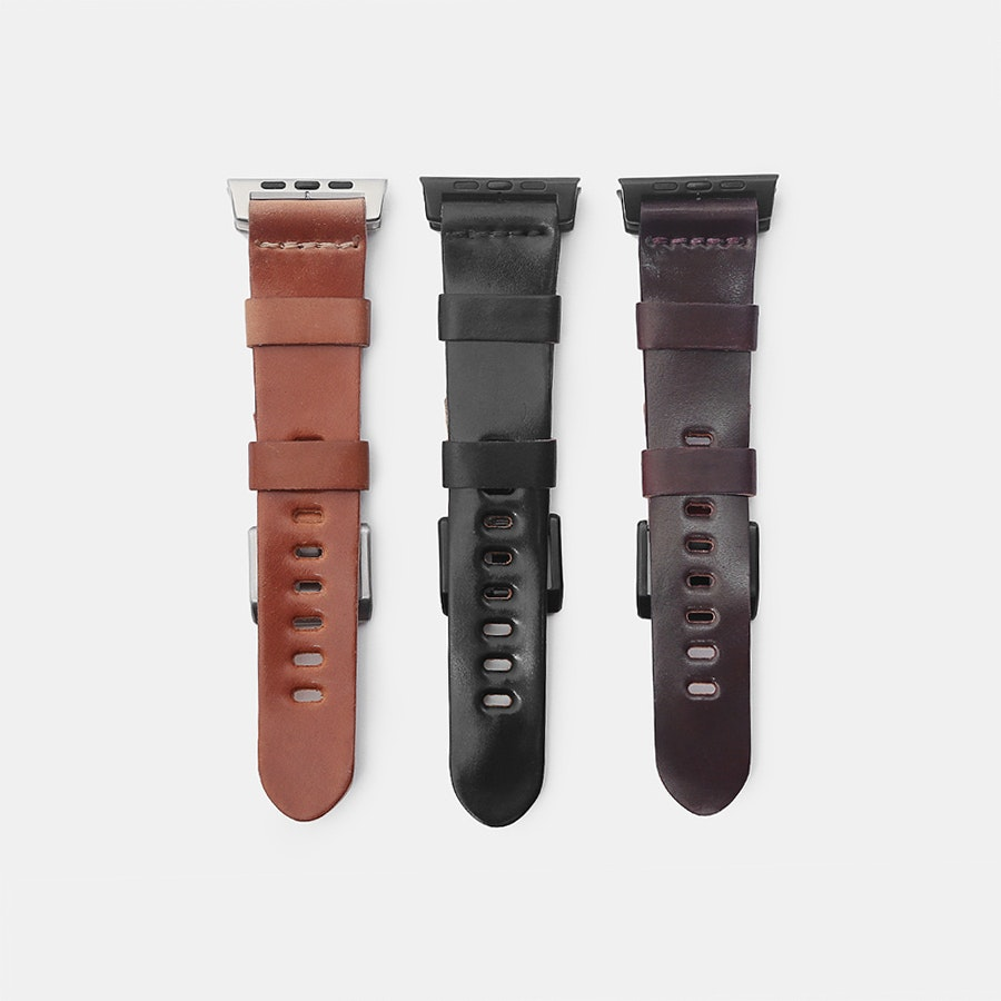 Ashland Leather Shell Cordovan Apple Watch Straps