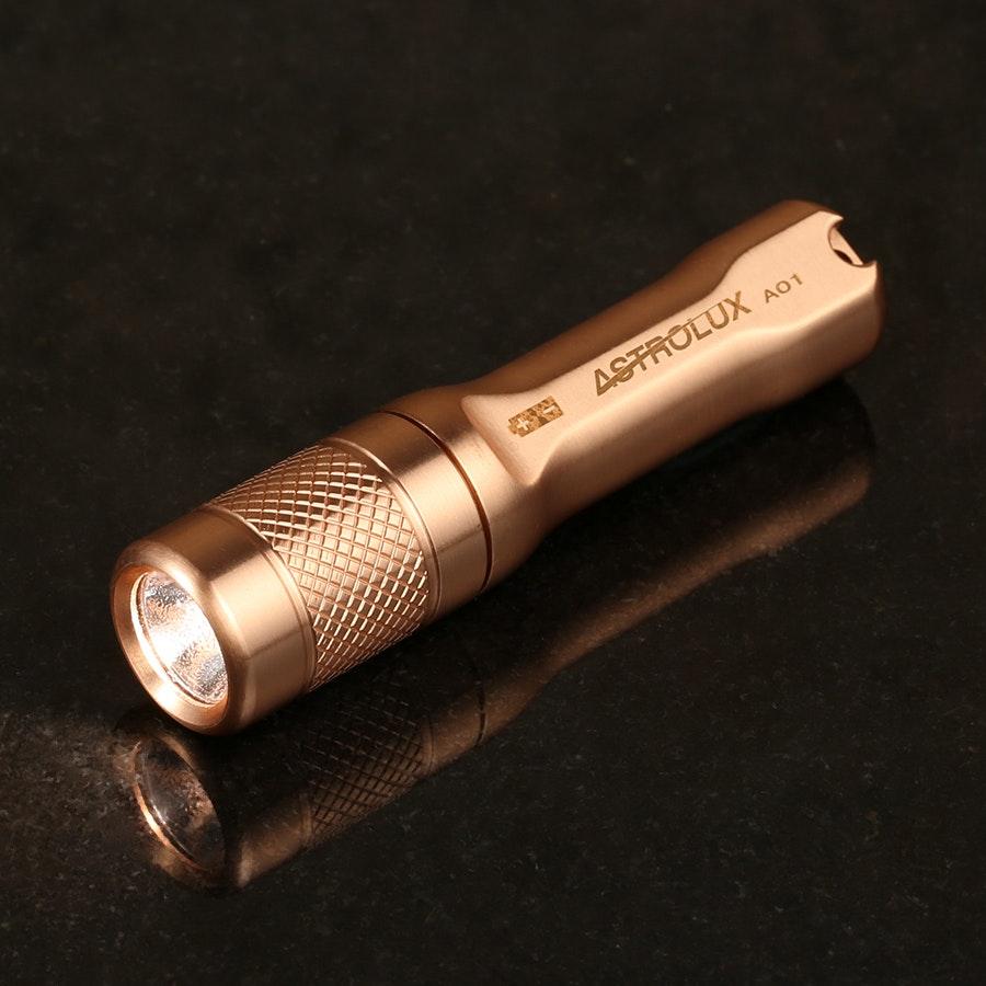 Astrolux A01 Copper Keychain Flashlight