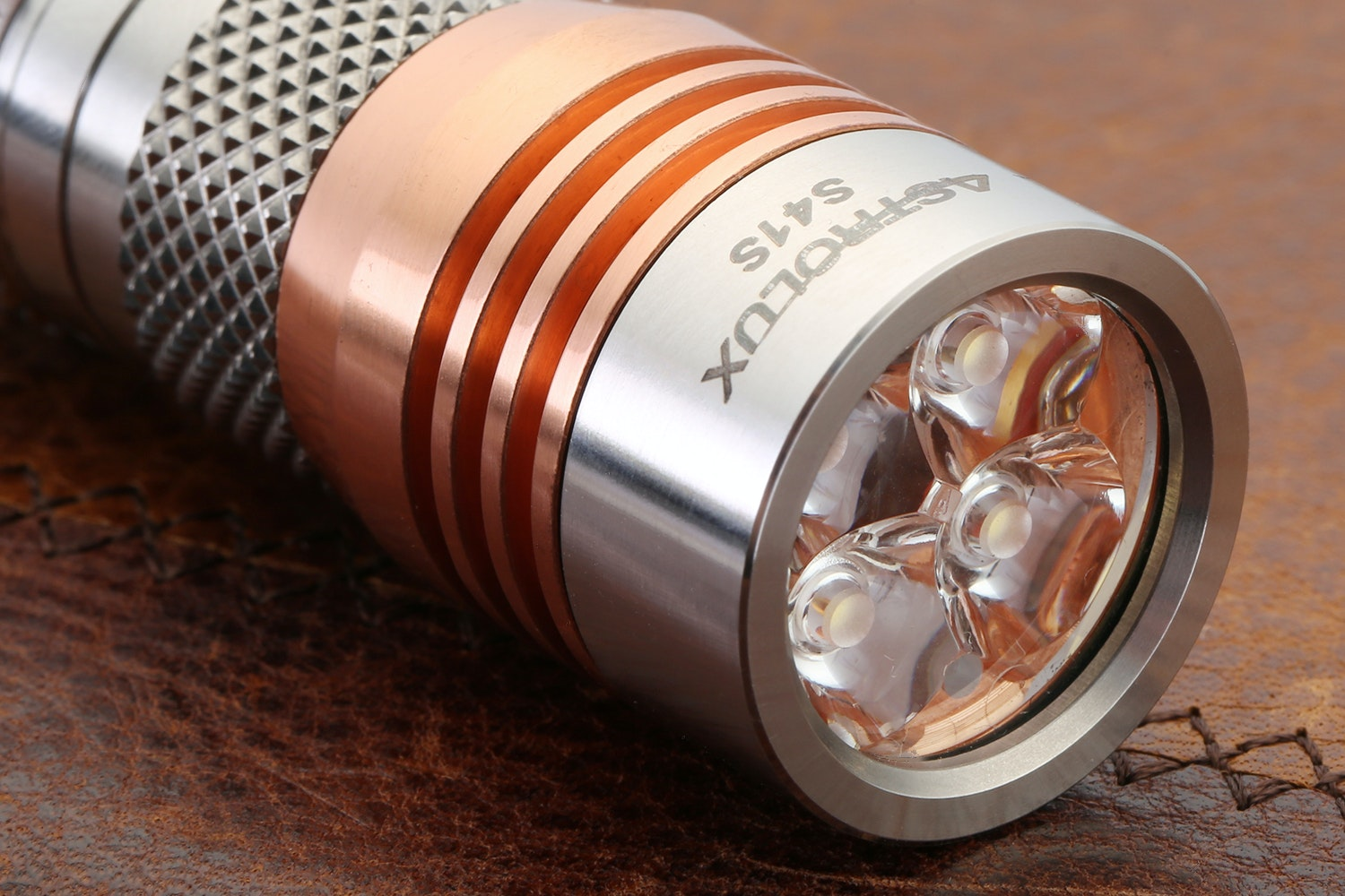 Astrolux S41S Copper & Stainless Steel Flashlight